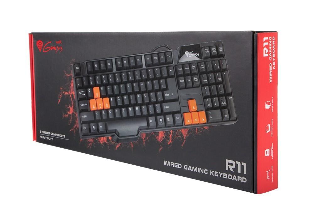 Herné klávesnice Natec herná klávesnica Genesis R11, US
