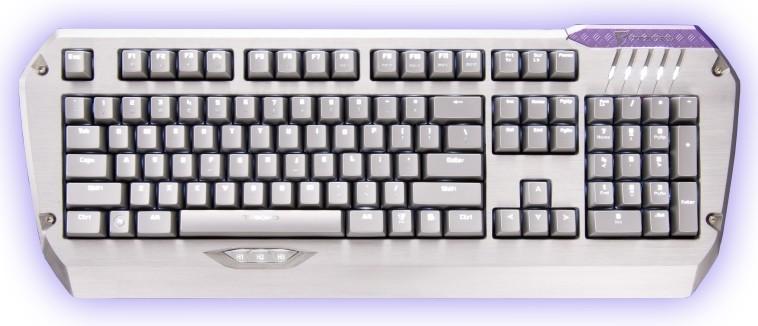Herné klávesnice Tesoro Colada Saint Cherry MX Red USB CZ+SK, červená