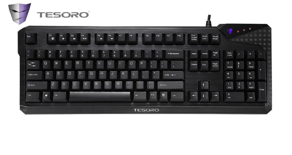 Herné klávesnice Tesoro Durandal Cherry MX Black USB CZ+SK, čierna