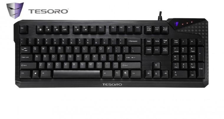 Herné klávesnice Tesoro Durandal Cherry MX USB CZ+SK, červená