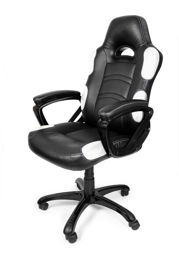 Herné kresla AROZZI herní židle ENZO/ černobílá