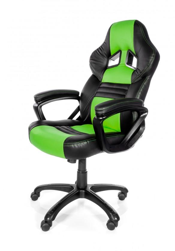 Herné kresla AROZZI herní židle MONZA/ černozelená