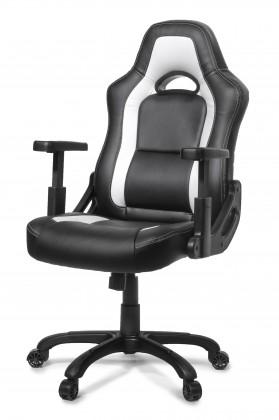 Herné kresla AROZZI herní židle MUGELLO/ černobílá