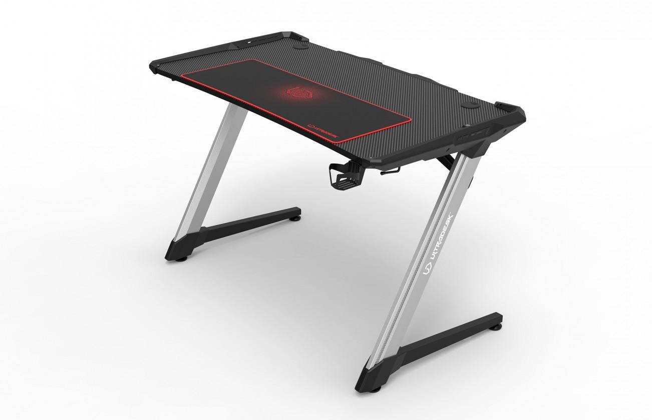 Herné kresla Herný stôl ULTRADESK RACER, RGB podsvietenie