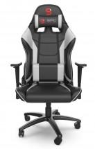 Herné kreslo SPC Gear SR300 V2, čierno-biela