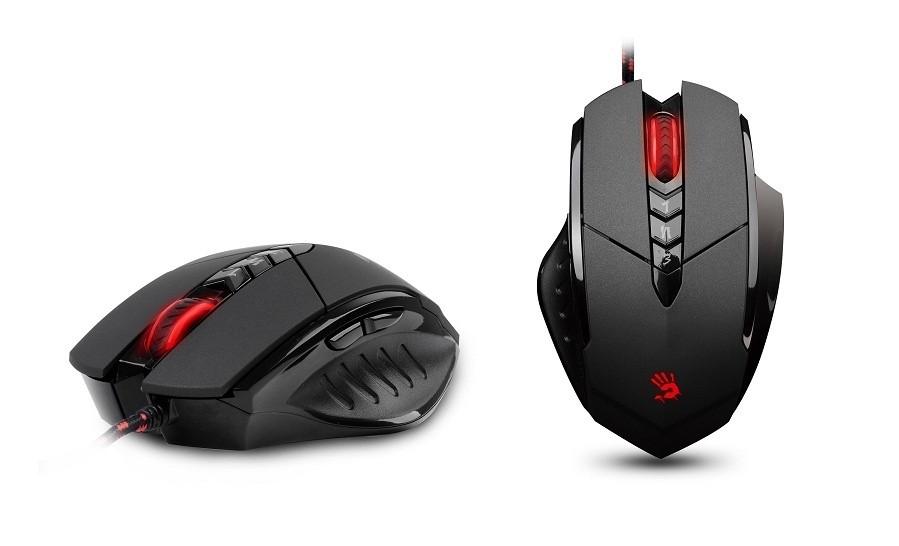 Herné myši A4tech V7, čierna