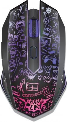 Herné myši CONNECT IT CMO3510 Doodle II, černá CMO3510BK
