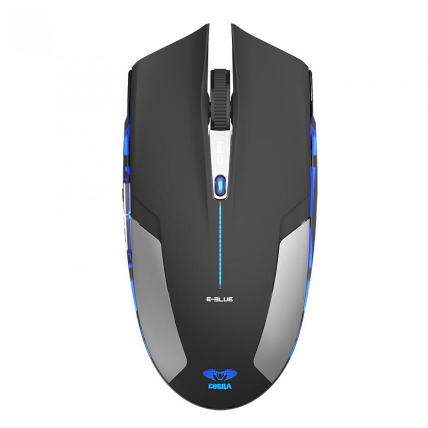 Herné myši E-BLUE Cobra Jr.,EMS609BKAA, bezdrôtová myš optická,1750dpi