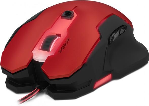 Herné myši Gaming Mouse SL-680000-BKRD SVIPA, Speed Link, red-black