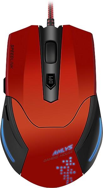 Herné myši Gaming Mouse SL-680001-BKRD AKLYS, Speed Link, red-black