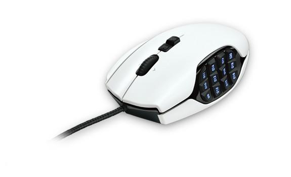 Herné myši Logitech G600 MMO Gaming Mouse, biela
