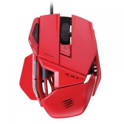 Herné myši Mad Catz R.A.T.3 GM, červená