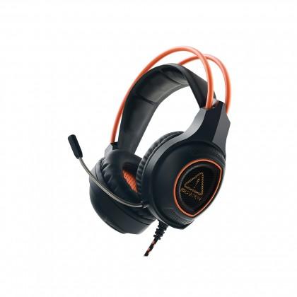 Herné slúchadlá Canyon Nightfall CND-SGHS7 herný headset, čierno-oranžová