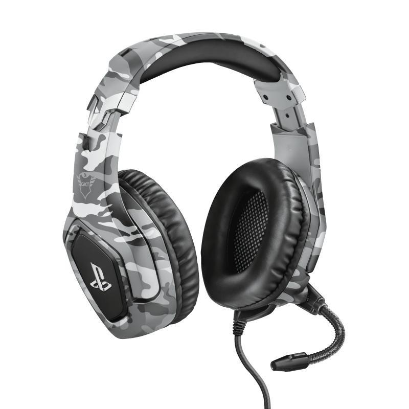 Herné slúchadlá Headset Trust GXT 488 Forze-G, pre PS4, herný, maskáčový
