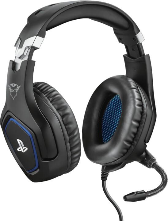 Herné slúchadlá Headset Trust GXT 488 Forze, pre PS4, herný, čierna/modrá