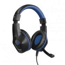 Herný headset Trust GXT 404B Rana, pre PS4, čierno-modrá