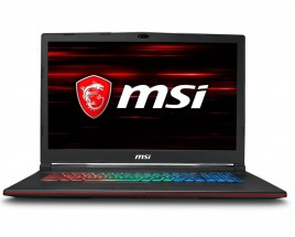 """Herný notebook MSI 17,3"""" i7 8GB, SSD+HDD, GP73 8RE-624CZ + ZDARMA Antivírusový program Bitdefender Plus"""