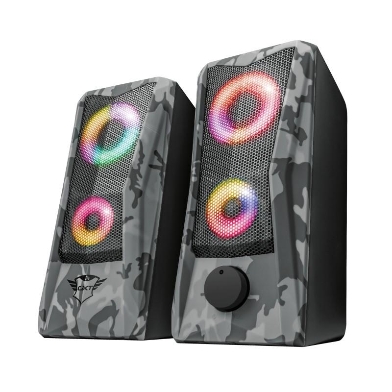 Herný reproduktor Reproduktory Trust GXT 606 JAVV RGB, 2.0, 12W, maskáčové