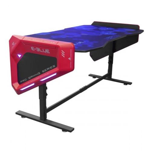 Herný stôl E-Blue EGT003BK,RGB podsvietenie,výškovo nastaviteľný + ZDARMA podložka pod myš a hub
