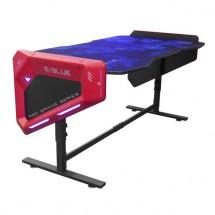 Herný stôl E-Blue EGT003BK,RGB podsvietenie,výškovo nastaviteľný + ZADARMO adaptér a podložka pod myš