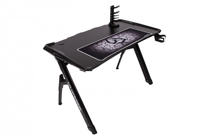 Herný stôl ULTRADESK INVADER - BLACK, podsvieteny