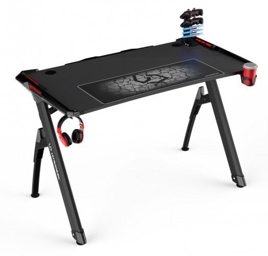 Herný stôl ULTRADESK INVADER - RED UDESK-IN-RD + ZDARMA podložka pod myš