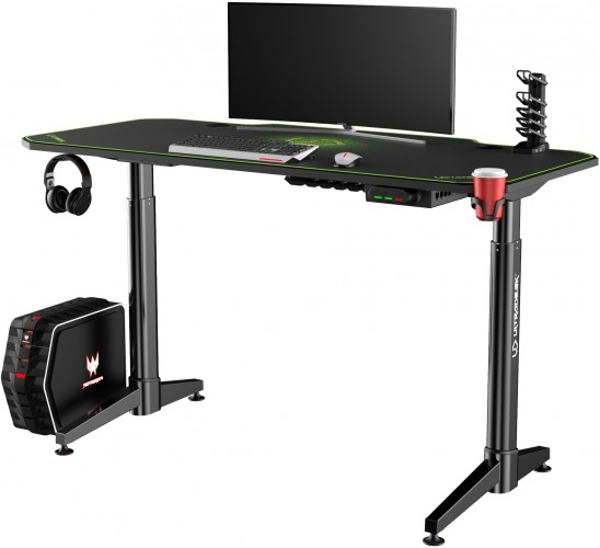 Herný stôl ULTRADESK LEVEL GREEN UDESK-LVA-GN + ZDARMA podložka pod myš a hub