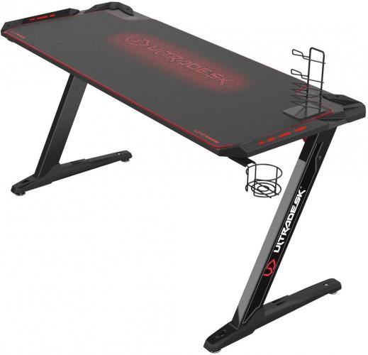Herný stôl ULTRADESK SPACE XXL RED UDESK-SP-RX + ZDARMA podložka pod myš a hub