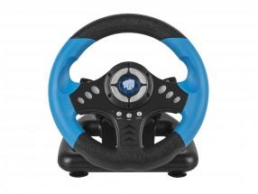 Herný volant FURY Skipper PC, čierna/modrá
