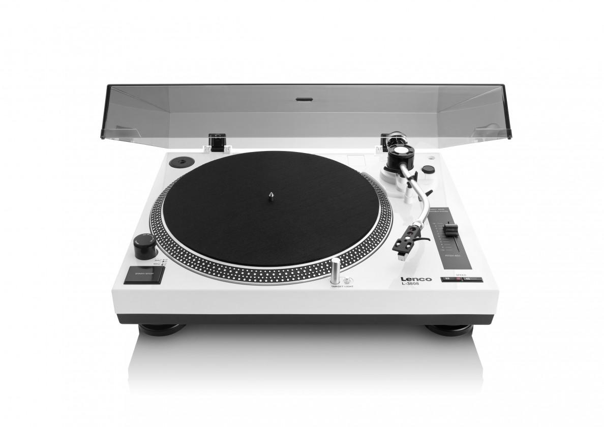 Hi-Fi gramofóny Lenco L-3808 bílý