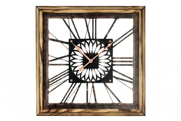 Hodiny Nástenné hodiny - H05, dřevo, kov