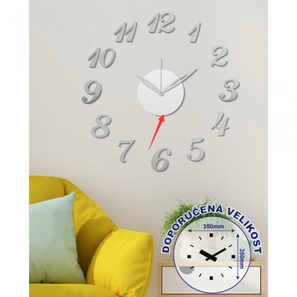 Hodiny Nástenné hodiny - H15, 50 cm, strieborná