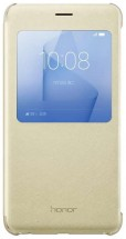 Honor 8 Smart Cover - S-View flip pouzdro, Gold