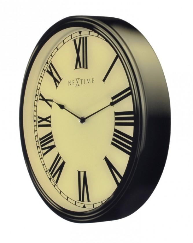 Houdini - hodiny, nástenné, guľaté (sklo, biele)