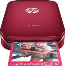 HP Sprocket Photo Printer, červená Z3Z93A + Dárek knižka