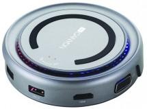 Hub Canyon CNS-TDS07DG, USB-C, HDMI, VGA, bezdrát. nabíjačka