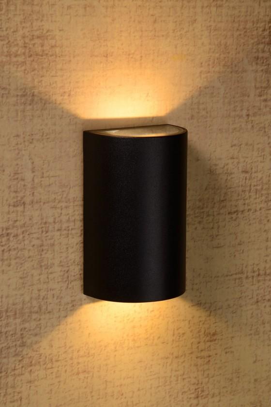 Hyro - nástenné osvetlenie, 2x5W, LED (čierna)
