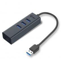 i-Tec USB 3.0 Metal 3 port HUB Gigabit Ethernet 1x USB 3.0