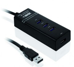 I1-USB HUB 3.0.,4xUSB, čierny