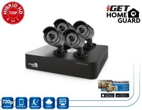 iGET HGDVK46704 - CCTV 4CH DVR + 4xHD kamera 720p