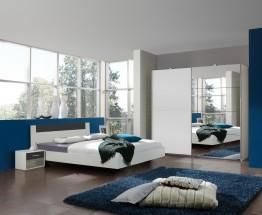 Ilona - Komplet 6, posteľ 180 cm (alpská biela, grafit)