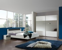Ilona - Komplet 9, posteľ 180 cm (alpská biela, antracit)