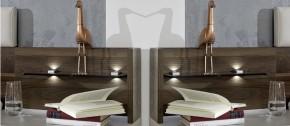 Imola - Panel na nočný stolík, so stenou, 2ks (champagne,nocce)