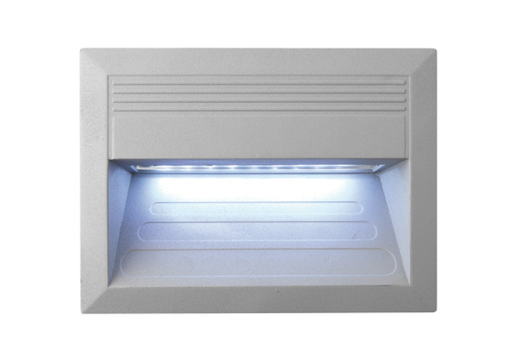 Incast - Vestavné vonkajšie svietidlo, LED, 1W, 31x23x46 (hliník)