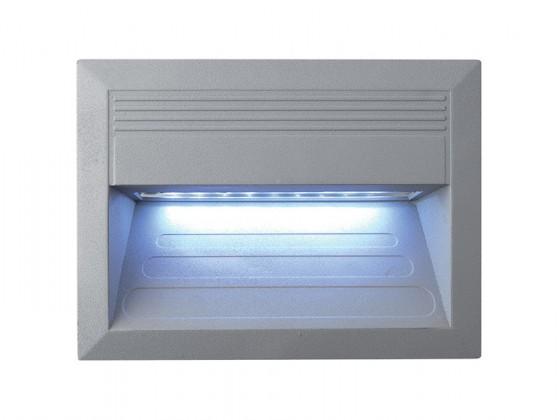 Incast - Vestavné vonkajšie svietidlo, LED, 1W, 31x34x40  (hliník