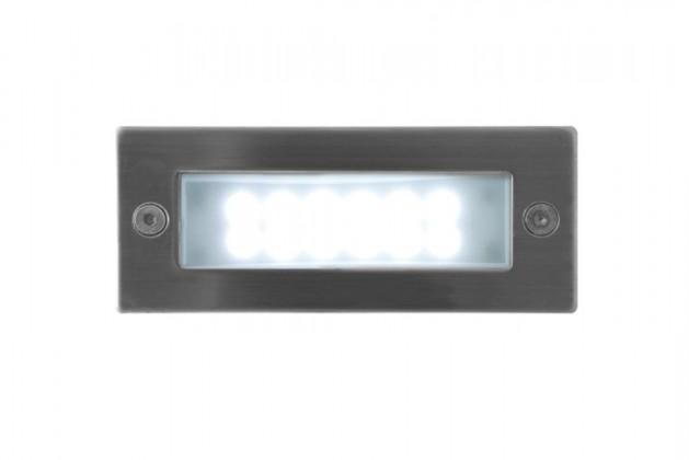 Index - Vestavné vonkajšie svietidlo, 1W, 25x29x40 (nerez)