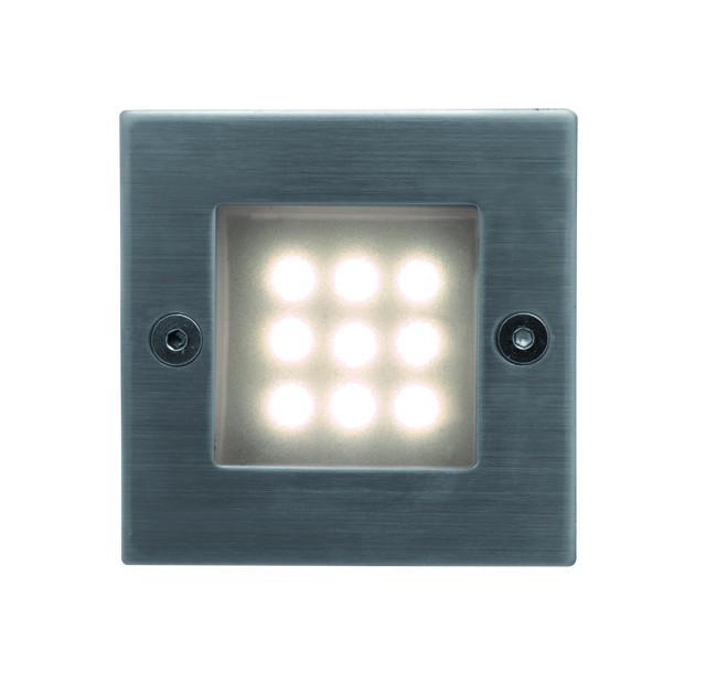 Index - Vestavné vonkajšie svietidlo, LED, 16x40x40 (nerez)