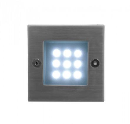 Index - Vestavné vonkajšie svietidlo, LED, 1W, 16x40x40 (nerez)