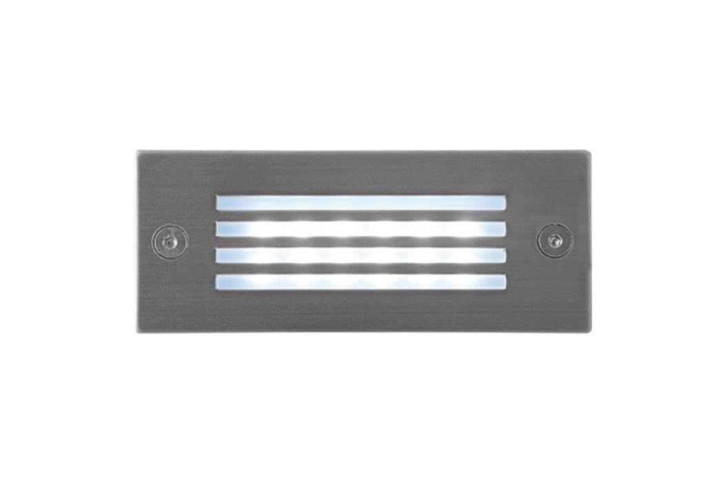 Index - Vestavné vonkajšie svietidlo, LED, 1W, 25x29x40 (nerez)