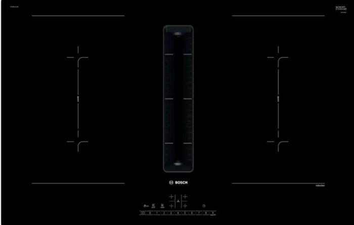 Indukčná varná doska s digestorom, 80 cm, 7,4 kW, EcoSilence